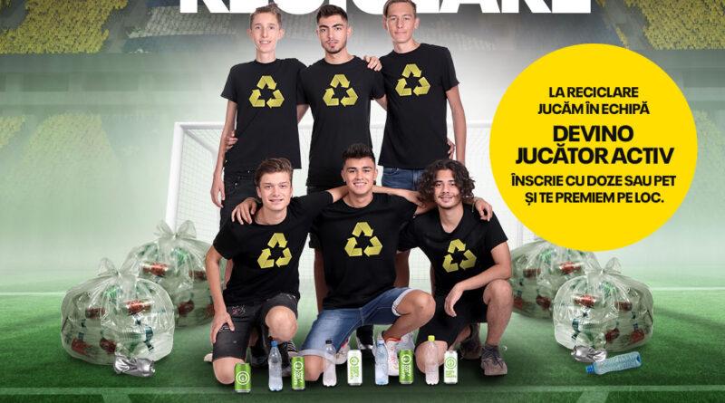 Locuitorii din 10 oraşe din România vor face echipă în Naţionala de Reciclare  şi vor recicla doze şi PET-uri